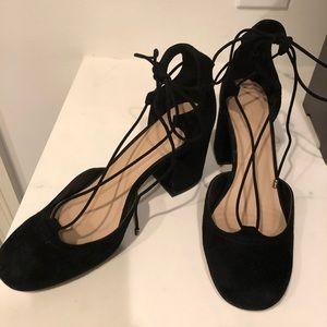 Aldo black suede heel